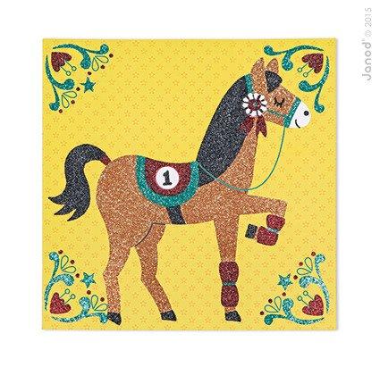 Zestaw artystyczny Magiczny brokat Świat koni, Janod