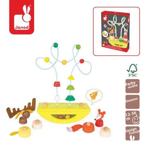 Platforma edukacyjna Łoś i lisek Baby Forest, Janod