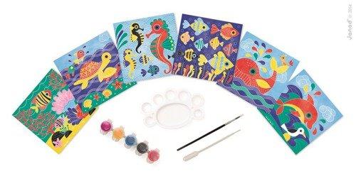 Zestaw artystyczny Magiczne farby Podwodny Świat, Janod