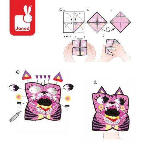 Zestaw artystyczny Origami Kolorowe zwierzątka, Janod