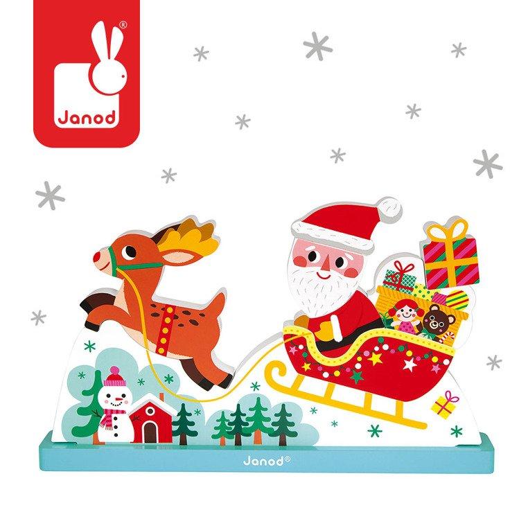 Zupełnie nowe Magnetyczne klocki 3D Sanie Świętego Mikołaja, Janod | Kolekcja BU78